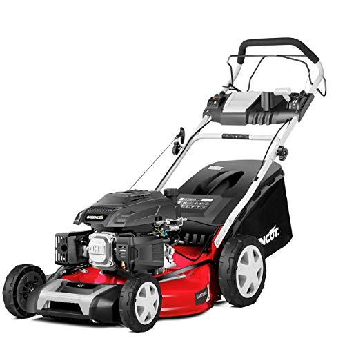 Greencut GLM770SXE - Cortacésped autopropulsadocon motor de gasolina de 165cc y 6cv y arranque eléctrico...