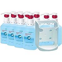 Schülke-Set, 10 x 1000 ml Händedesinfektion desmanol care Hyclick + 1x Wandspender f. Vierkantflaschen preisvergleich bei billige-tabletten.eu