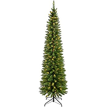 200CM Ambassador Christmas Tree Flocked Pencil Pine Slim Tree 200 ...