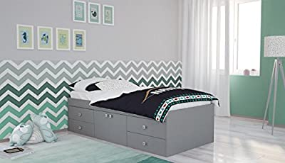 Cabin bed Polini Simple 3100 with Doors and Drawers Kids Children Frame Single 90 x 190 cm - inexpensive UK light store.