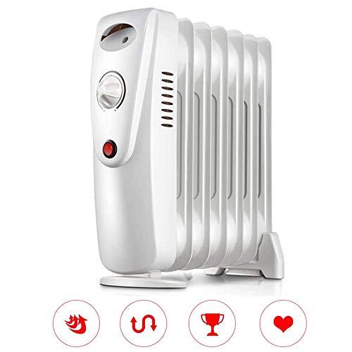 Calentador de espacios, Petróleo 800W Filled radiador de calefacción eléctrico con termostato digital...