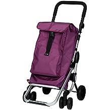 Carrito de la compra de aluminio con 4ruedas y bolsillo térmico playm arket Go Up, color morado/lila