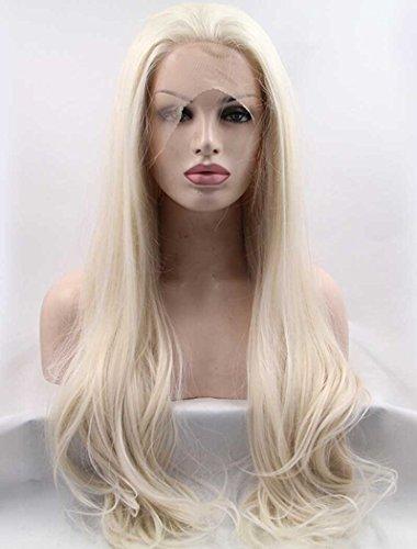 Kostüm Perücke Daenerys - Tsnomore Blonde lange seidige gerade synthetische Spitze-Front-Perücke