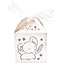 WINOMO Bomboniere sacchetti regalo di nozze favori 50pcs (bianco)
