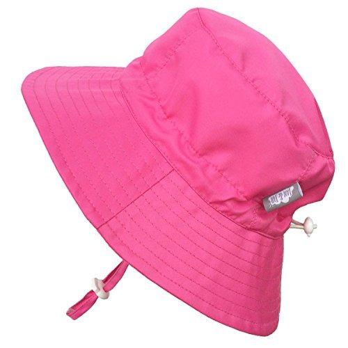 Sombrero de sol cubo para Niños 50+ UPF transpirable, tamaño ajustable, Hidrófugo (G: 3-12años, Rosa caliente)