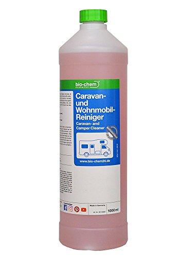 bio-chem Caravan- und Wohnmobil-Reiniger KONZENTRAT Spezieller Reiniger für Wohnmobile, Wohnwagen und Vorzelte materialschonende Außenreinigung für Dichtungen geeignet ergibt bis zu 40 Liter Anwendungslösung 1000 ml