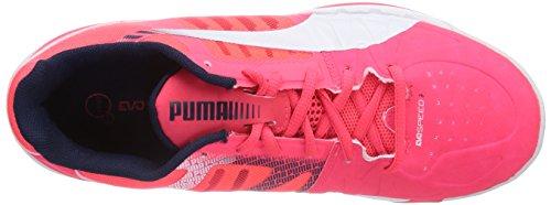 Puma evoSPEED Indoor 3.3, Scarpe da ginnastica Unisex - adulto Rosso (Rosso (04 bright plasma-white-peacoat))