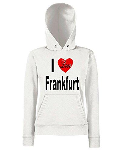 T-Shirtshock - Sweats a capuche Femme TLOVE0023 i love frankfurt germany front Blanc