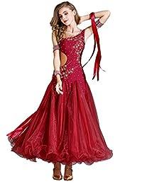 WQWLF Estándar Traje de Baile de Salón de Baile Traje de Rendimiento de Mujer  Vals Moderno 19075450fe72