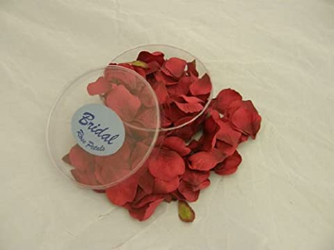 Fabric Rose Petals, Burgundy by Sehlbach and Whiting Ltd (S&W)