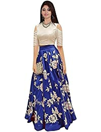 Shree Women's Silk Unstitched Lehenga Choli (SRENT002_Multi-Coloured_Free Size)