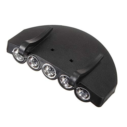 OSALADI 5 LED Clip-On Kopf Hut Licht