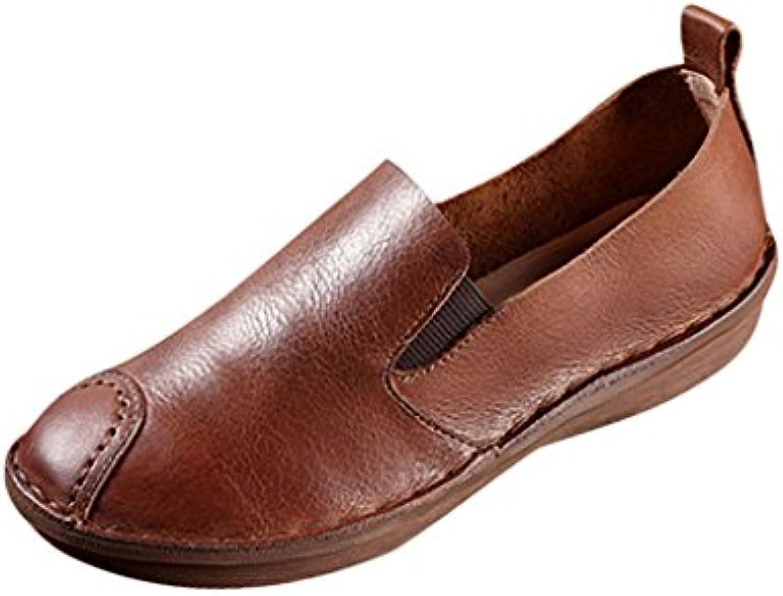 Youlee cuir Femmes Été Printemps Chaussures en cuir Youlee plates vintageB071DQZSJXParent 979bf2