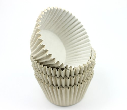 Muffin- / Cupcakeförmchen, hochwertig, Elfenbeinfarben, 48 Stück