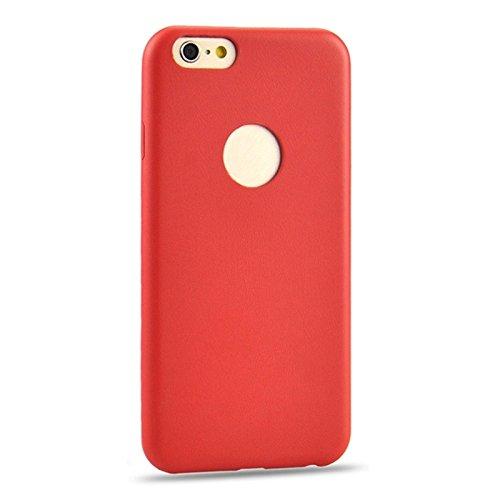 Phone case & Hülle Für iPhone 6 / 6s, 0.3mm Ultradünner PU-lederner rückseitiger Abdeckungs-schützender Fall ( Color : Blue ) Red