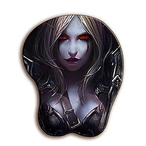 MWXXmauspad World Of Warcraft 3d Mauspad Sexy Handgelenkstütze Weiche Silikonbrust Büro Desktop Dekoration GamerWeiß