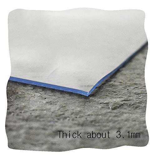 JIAJUAN Schneidbar Transparent PVC Bürostuhl Unterlage Bodenschutzmatte zum Teppichboden Harte Böden Kratzfest Wasserdicht, Anpassbare (Color : 3.1mm, Size : 60x90cm)