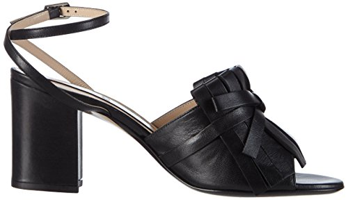 Unbekannt 8737, Sandales Bride cheville femme Noir - Noir