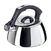 Oggi Bordeaux Stainless Steel Whistling Tea Kettle