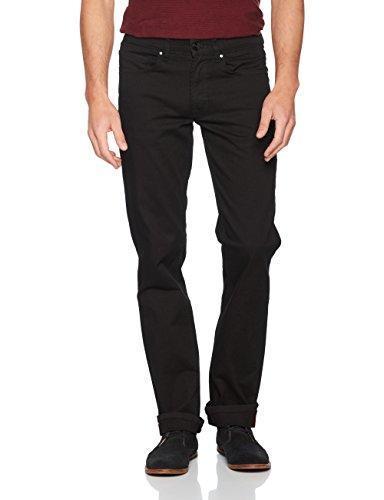 Oklahoma Jeans Herren Straight Jeans Schwarz (Black Black 003)