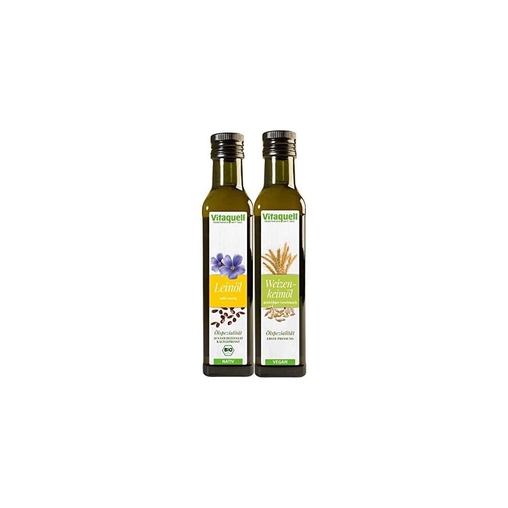Vitaquell Weizenkeiml 1 Pressung 250 Ml Leinl Goldleinsaat Bio Nativ 250 Ml