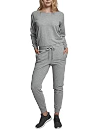 Urban Classics Damen Ladies Long Sleeve Terry Jumpsuit