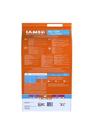 Iams Cat Food ProActive Health Adult with Wild Ocean Fish and Chicken, 15 kg 3