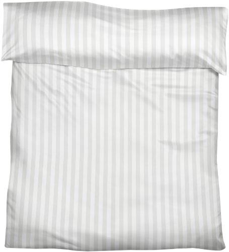 Fleuresse Streifsatin Bettbezug, weiß, 135 x 200 cm -