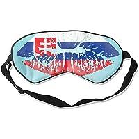 Schlafmaske aus Seide, für Damen und Herren, ultimative Schlafhilfe für Reisen und Nachtruhe (Slowak-Flagge) preisvergleich bei billige-tabletten.eu