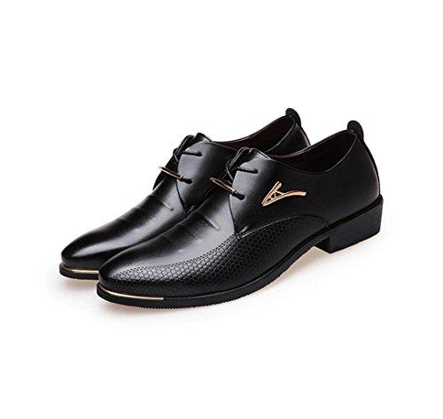 NSPX I pattini di vestito da banchetto dei pattini di cerimonia nuziale dei pattini del merletto delle nuove scarpe da tennis dei vestiti di affari degli uomini , 45 BLACK-42