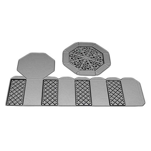 Hotaluyt DIY Süßigkeit-Geschenk-Kasten-Blumen-Rahmen Schneideisen-Foto-Einladung Grußkarten Dekoration Metall Stencils