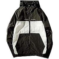 Men Jacket Home Sudaderas Ligeras con Capucha para Hombre Chaquetas Cortavientos de protección Solar (Color : Black, Size : US-Xsmall)
