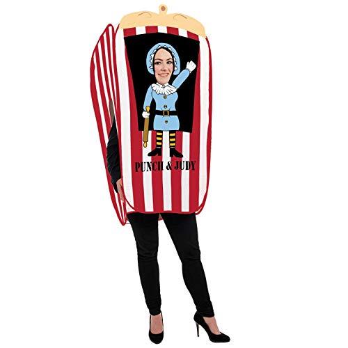 Puppet Mann Kostüm - Fun Shack Damen Costume Kostüm, Punch & Judy Woman, Einheitsgröße