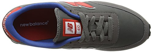 New Balance U410v1, Baskets Basses Mixte Adulte Gris (Grey/Red/Blue)