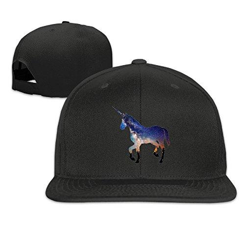 Nubia Einhorn Pferd Custom Running Flat Bill Snapback Hat Cap Kappe Weiß,...