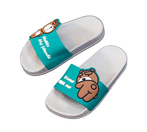 Boys Girls Cute Bathroom Slipper Kids Classic Beach Slippers Slide Sandals Pool Shoes Soft Flip Flops Summer Anti-Slip House Slippers