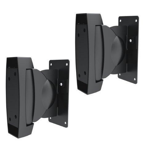 SAVONGA SCHWERLAST Lautsprecher Boxen Wandhalterung 522302S Boxenhalterung Wand Deckenhalterung neigbar schwenkbar, ein paar in schwarz hält bis 10 kg!
