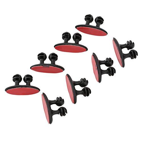 Preisvergleich Produktbild 8 STÜCKE Ausgezeichnete Mini selbstklebende Clamp Auto Kabel Clip Kabelhalter Krawattenhalter Fixer Organizer Schwarz / Beige farbe: schwarz