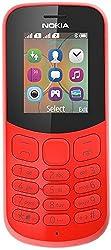Nokia 130 Mobiltelefon (VGA Kamera, Bluetooth, extra lange Akkulaufzeit, Radio- und MP3 Player, Taschenlampe, Wecker, Dual Sim) rot, Version 2018