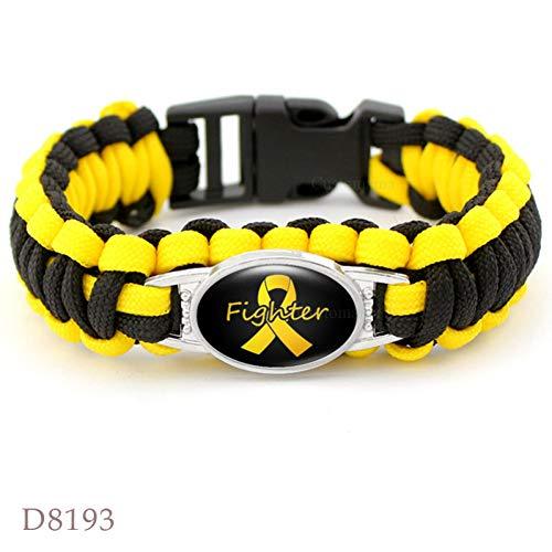 mie Adhs Hautkrebs Armbänder Brustkrebs Bewusstsein Orangenband Paracord Charm Armbänder Männer Frauen Schmuck Geschenk ()