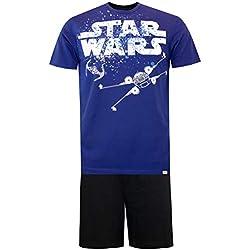 STAR WARS Pijama para Hombre La Guerra de Las Galaxias Azul Size X-Large