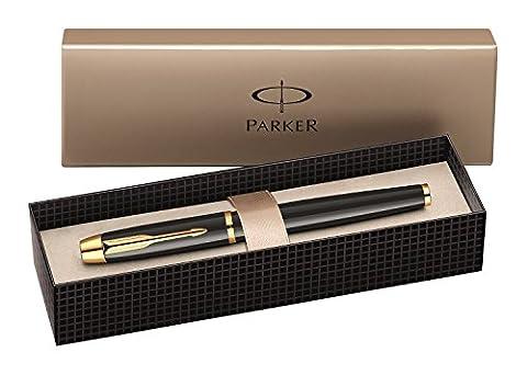 Parker IM Stylo plume Pointe Moyenne Attributs Dorés Noir