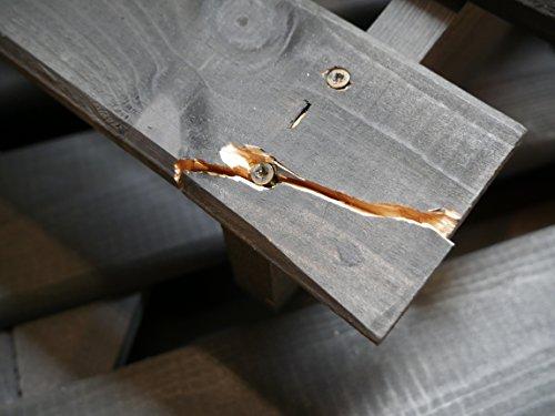 Mülltonnenbox schwarz f. 1 Tonne 120L FSC Holz Verkleidung Mülltonnenverkleidung - 3