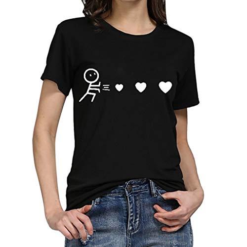 Camiseta de Mujer Manga Corta riou Mujeres Elegantes Blusas...