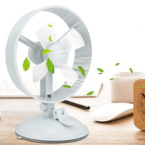 Mini ventiladores de escritorio ajustables de la velocidad USB de la fan 2 de la ventosa portátil para el Ministerio del Interior(Verde oliva)