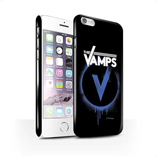Offiziell The Vamps Hülle / Glanz Snap-On Case für Apple iPhone 6S / Weiß/Schwarz Muster / The Vamps Graffiti Band Logo Kollektion Blau V