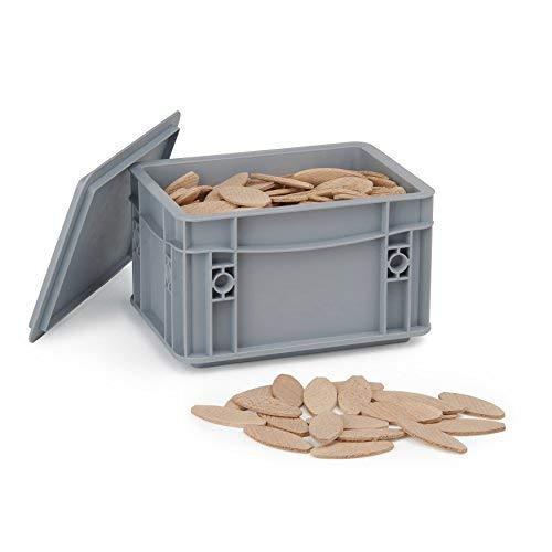 Flachdübel von WFix   Größe 0/10/20 je 175 Stk.   Dübel in Aufbewahrungsbox   Kompatibel mit Dübelfräse & Lamellofräse   Holzdübel Lamello 20