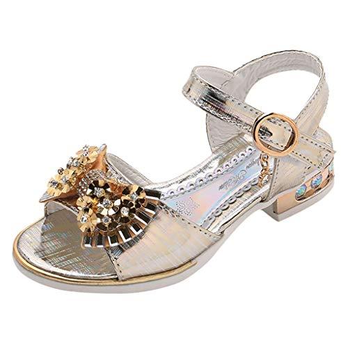 Sandalen Mädchen Mode Party Kleid Schuhe Pailletten Kristall Strand Schuhe Strass Böhmische Sandalen Einzelne Schuhe Open Toe Blockabsatz Schnalle Sandalen ()