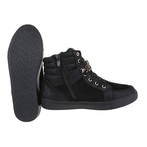 Ital-Design - Pantofole a Stivaletto Donna Nero ...