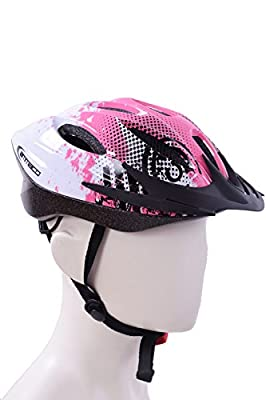 AMMACO GIRLS YOUNG LADIES BICYCLE HELMET VERY STYLISH 14 VENT PINK & WHITE 54-59cm 50% OFF RRP £29.99 from AMMACO